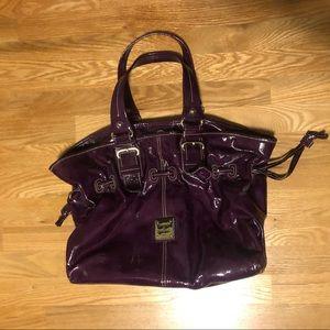 Purple Pleather Dooney and Bourke Bag
